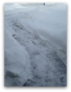 shoveled driveway