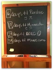 Chalkboard countdown